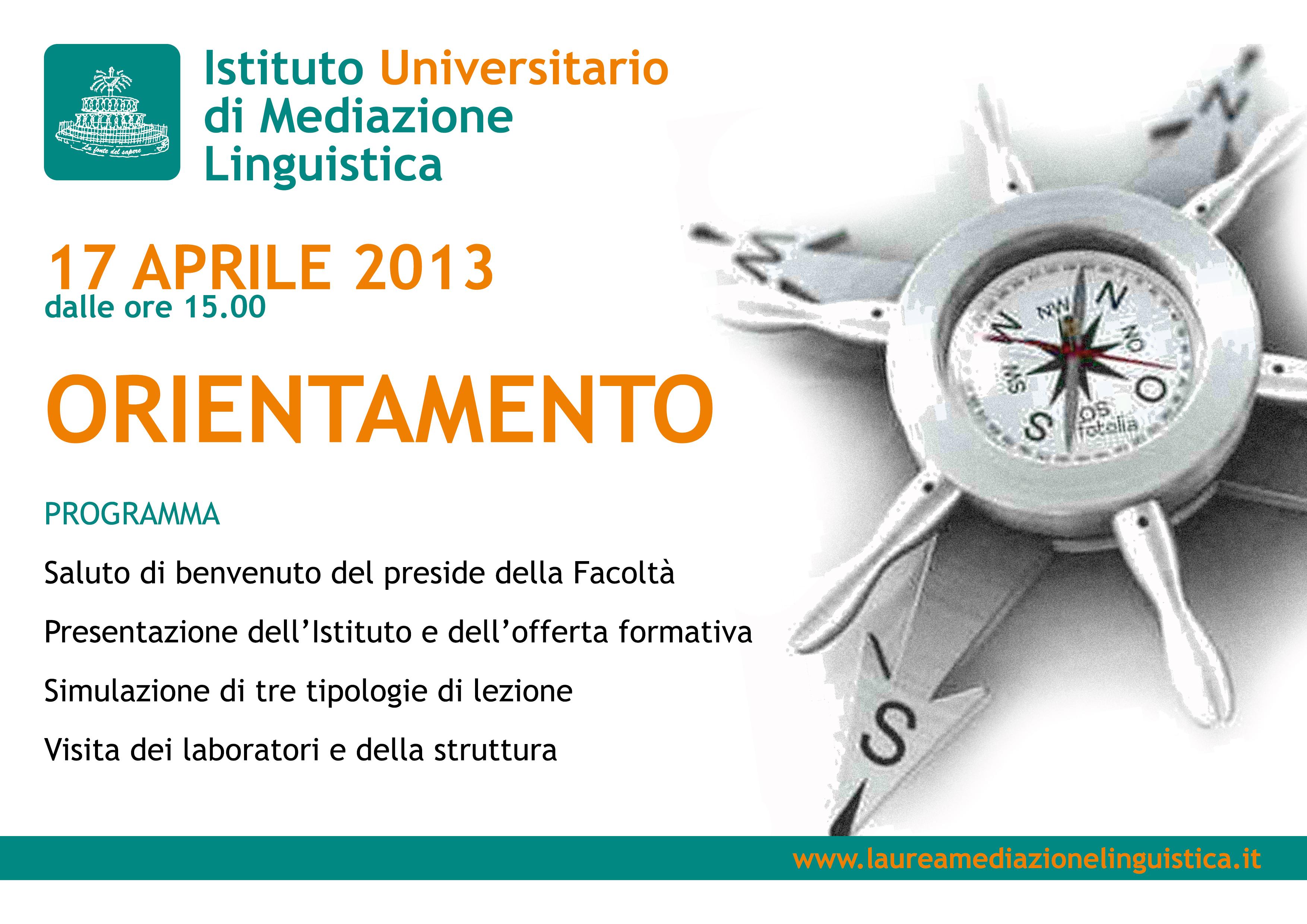 Programma di orientamento del 17 aprile 2013