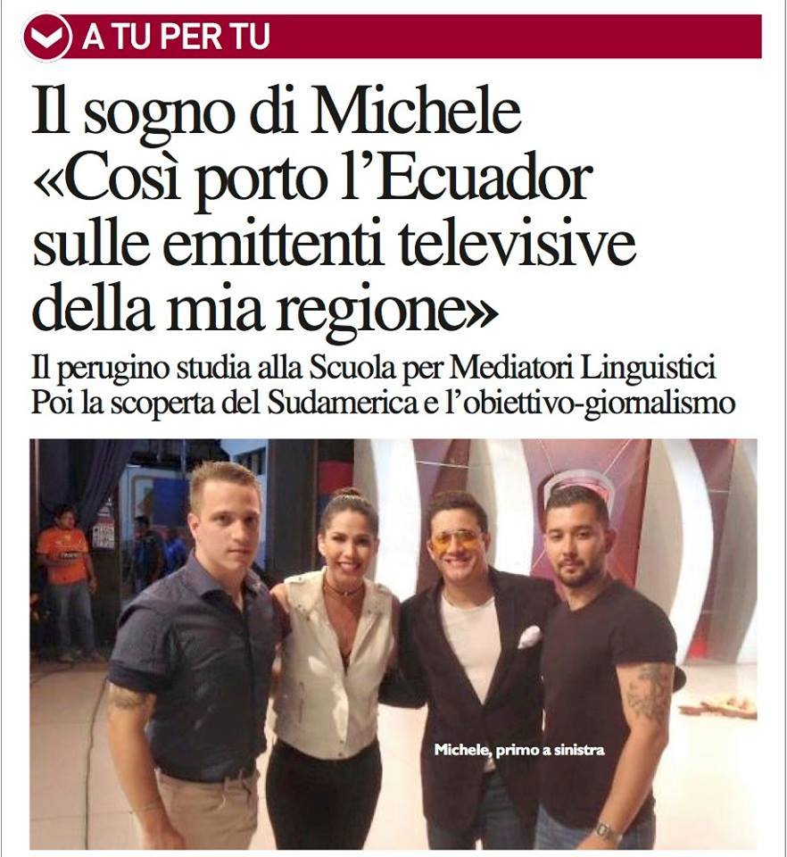Michele, da Mediazione a Hispano Channel TV