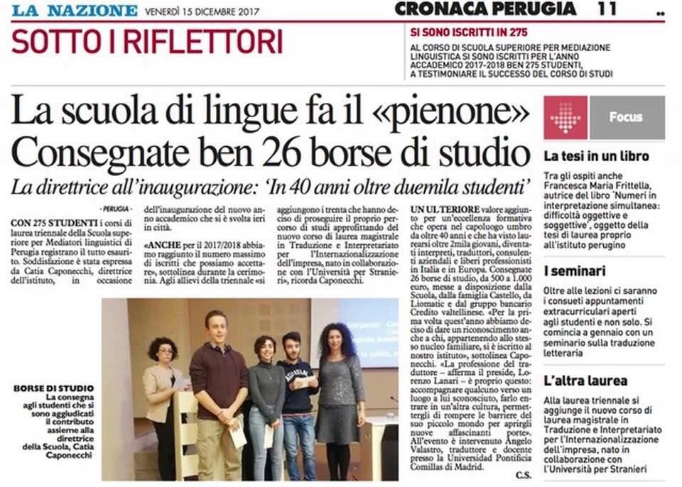 Rassegna Stampa | Inaugurazione A.A. 2017/2018
