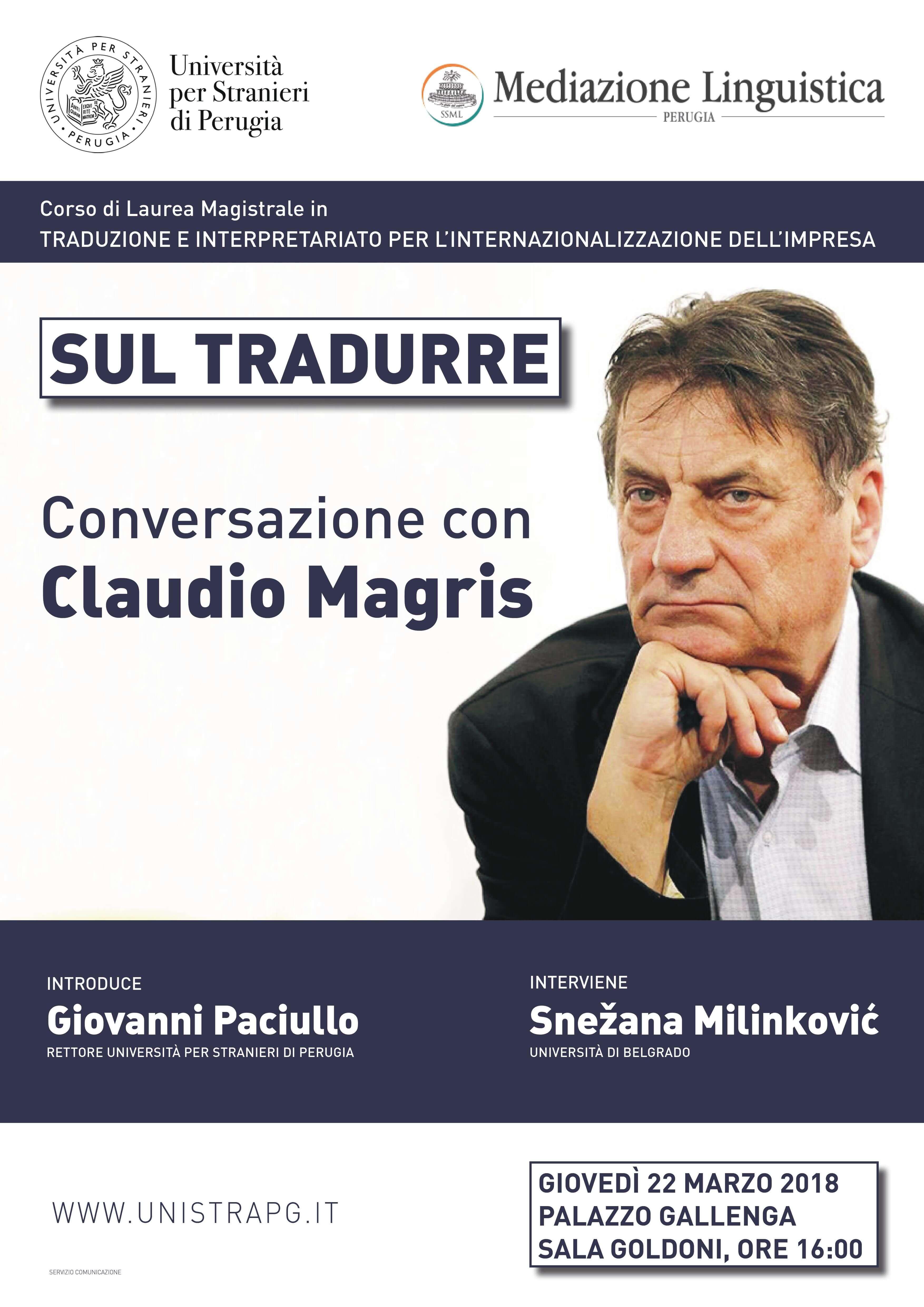 Sul tradurre | Conversazione con Claudio Magris - locandina