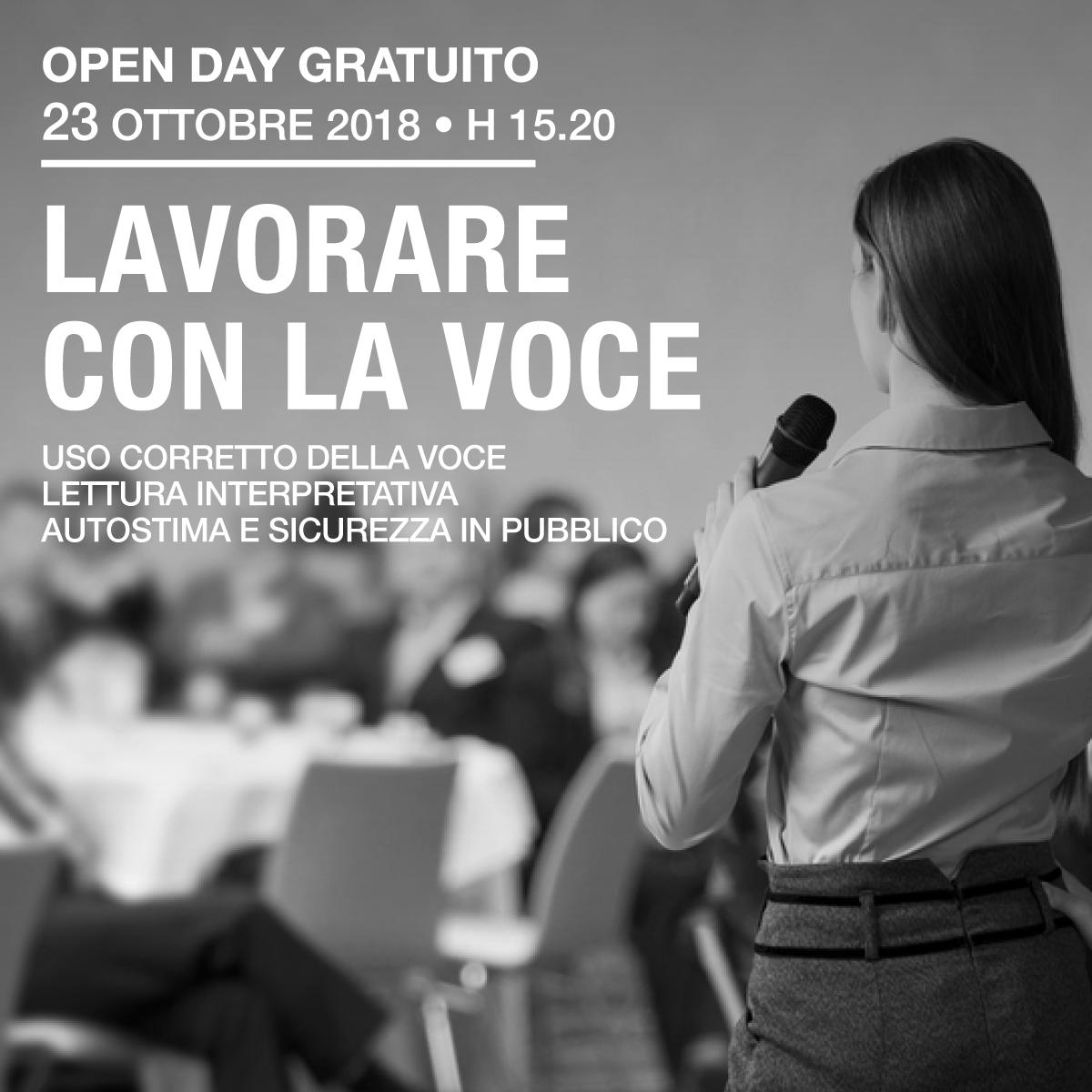 Lavorare con la voce - open day gratuito
