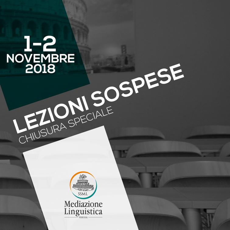 1 e 2 novembre 2018 le lezioni saranno sospese