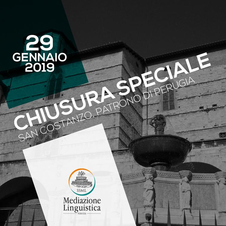 Chiusura speciale - San Costanzo