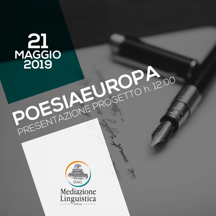 Poesiaeuropa, evento 21 maggio 2019